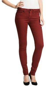 Vince Red Skinny Stretch Made In Usa Skinny Jeans