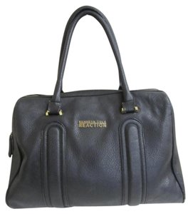 Kenneth Cole Reaction Gold Hardware Satchel in Black