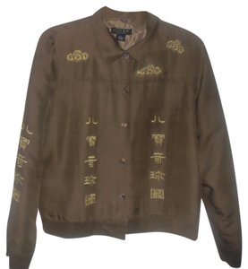 Citron Santa Monica 100% Asian Inspired Jean Style Medium Milk Chocolate Brown Jacket