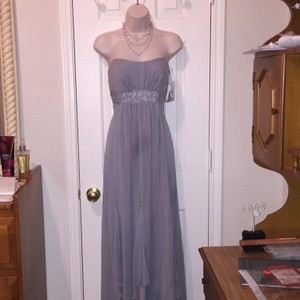 David's Bridal Mercury Grey Formal Bridesmaid/Mob Dress Size 2 (XS)