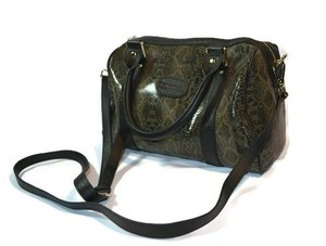 Terzetto Leather Satchel in Snakeskin