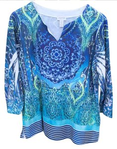 Chico's Top Multi-Blue
