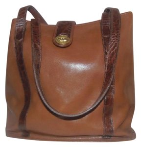 Brahmin Vintage Brown Tote Shoulder Bag