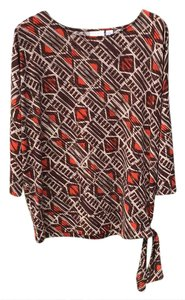 Chico's Top various- orange, brown, beige