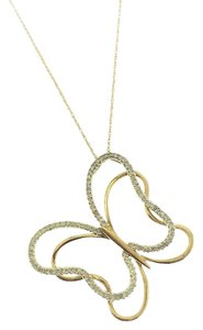 Other Diamond Butterfly Necklace in 10k Yellow Gold