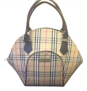 Burberry London Canvas Checked Burberry Strap Satchel in Classic Check