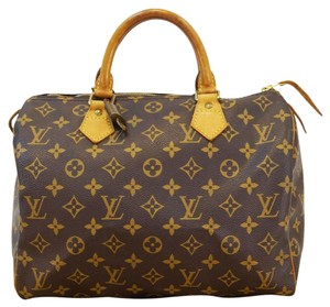 Louis Vuitton Lv Speedy 30 Monogram Canvas Handbag Tote