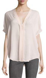 Vince Silk Classic Chic Elegant Top White