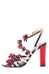 Tory Burch Red, White, And Blue Sandals