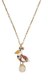 Kate Spade KATE SPADE 12K Gold Plated Taking Flight Mini Pelican Pendant Necklace