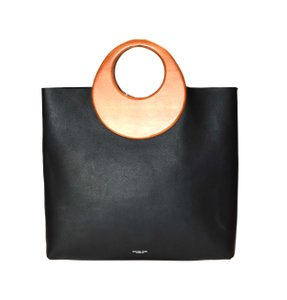 Michael Kors Collection Leather Large Boho Current Style Tote in Black