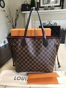 Louis Vuitton Neverfull Damier Hobos Totes Shoulder Bag