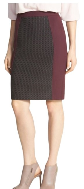 Halogen Skirt Burgundy/black