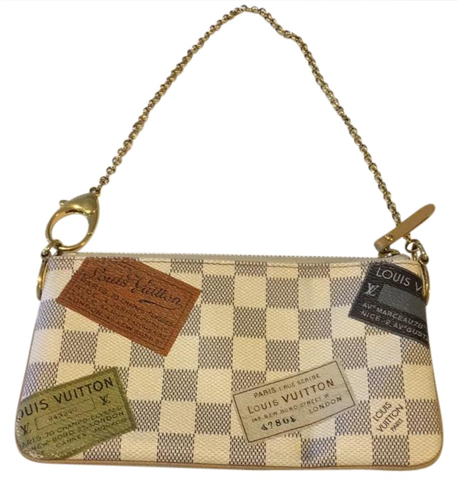 765f6d6affab Louis Vuitton Tag Limited Edition Small Purse Beige Green Shoulder ...