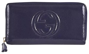 Gucci Soho Patent Zip Around Wallet