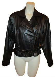Adler Collection Vintage Leather Motorcycle Jacket