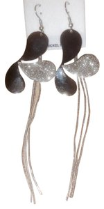Other Silver Half Clover Fashion Dangle Earrings