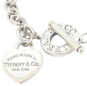 Tiffany & Co. Tiffany & Co. Return To Tiffany Silver Heart Charm and Toggle Bracelet