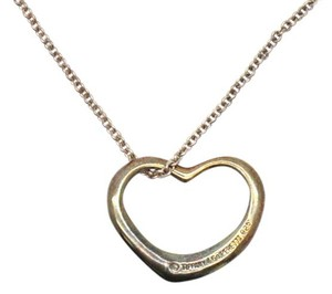 Tiffany & Co. #10755 Large Open Heart Necklace Peretti with Chain 925