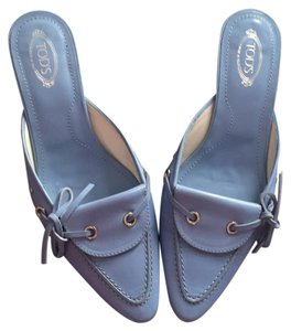 Tod's blue Mules