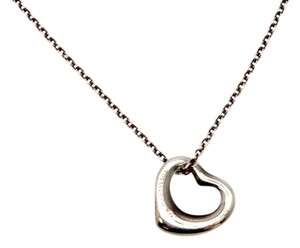 Tiffany & Co. #10759 Mini Open Heart Necklace Peretti with Chain 925