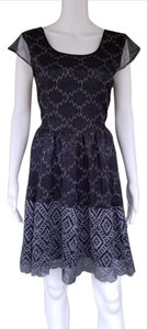 Pins and Needles Lace Gray Sheer Coctail Dress