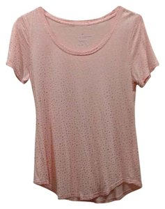 Juicy Couture T Shirt pink/orange with metallic gold dots