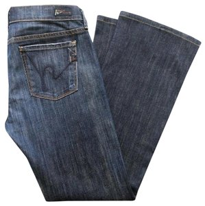Citizens of Humanity Made In Usa Low Waist Blue Coh Boot Cut Jeans-Dark Rinse