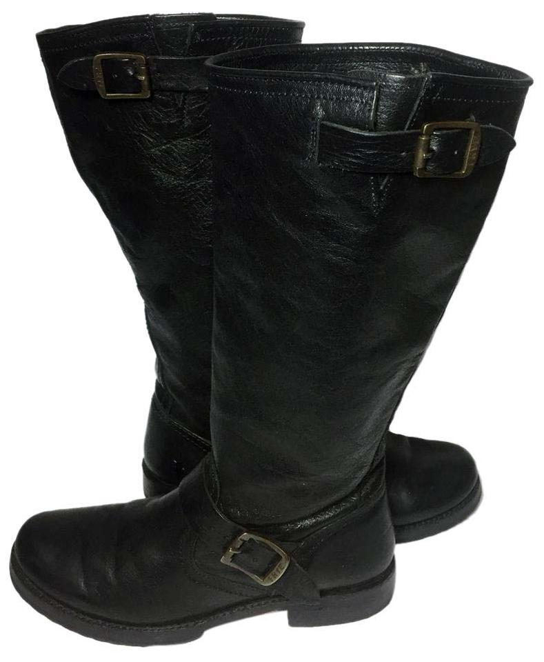 cde89635d61 Frye Black 77605 Veronica Slouch Motorcycle Women's Boots/Booties Size US 8  Regular (M, B) 40% off retail