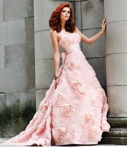Sherri Hill Sherri Hill Blush Floral Dress Wedding Dress