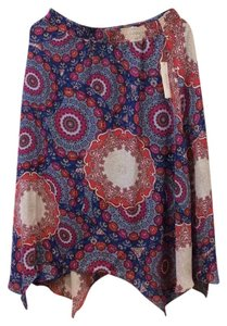 Laundry by Shelli Segal Skirt Palace Blue/Multicolor