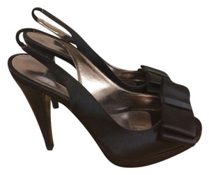Nina Shoes Satin Dress Black Pumps