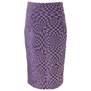 Azel Hazel Sexy Pre-owned Upholstery Skirt Purple