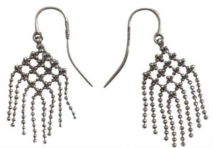 Tiffany & Co. Tiffany and Co 18k White Gold Fringe Drop Earrings