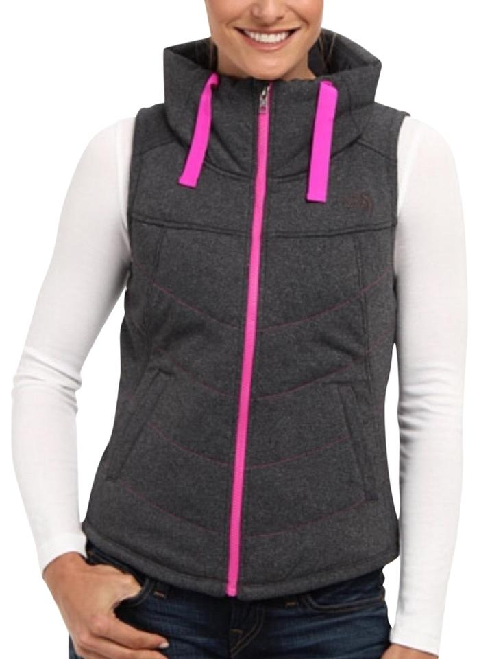 a8a6236b0f The North Face Grey Pseudio Puff Vest Size 8 (M) - Tradesy