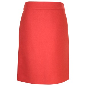 J.Crew Pencil Double Serge Pre-owned Skirt Poppy