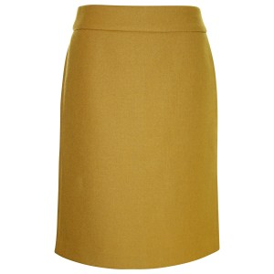 J.Crew Pencil Pre-owned Double Serge Skirt Mustard Gold