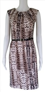 Dana Buchman Sheath Snakeskin Belt Career Dress