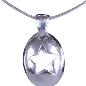 Tiffany & Co. Sterling Silver Star Pendant Necklace