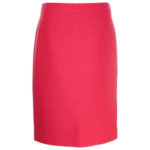 J.Crew Pencil Double Serge Wool Pre-owned Skirt Dark Pink