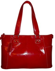 Jen Groover Leather Tote in Jen Groover red