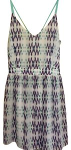Dolce Vita short dress white, green, blue and purple on Tradesy
