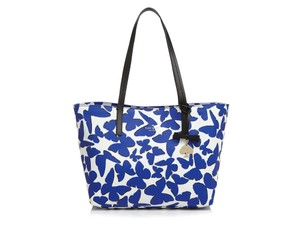 Kate Spade Butterfly Spring New York Tote in Lapis, white