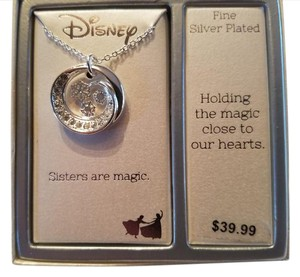 Disney NWT Disney Frozen Sisters Are Magic Necklace One Size Silver Plated