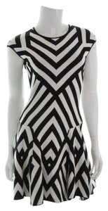 RVN Graphic Stripe Jacq Flared Flared Dress
