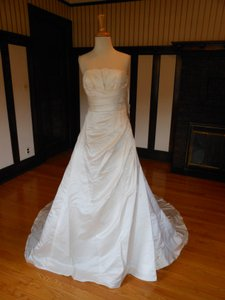 Pronovias Ivory Satin Orla Destination Wedding Dress Size 16 (XL, Plus 0x)