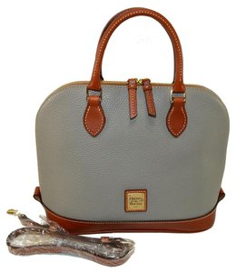 Dooney & Bourke Zip Zip Leather Satchel in Smoke