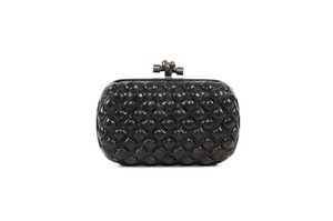Bottega Veneta Woven Leather Black Clutch