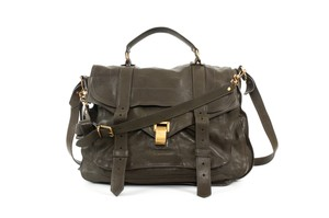 Proenza Schouler Leather Proenza Olive Cross Body Bag