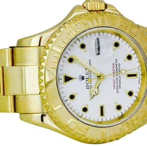 UNISEX ROLEX YACHT MASTER WITH WHITE DIAL AND SOLID GOLD BRACELET ROLEX YACHT-MASTER